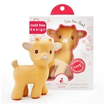 THE BABY GOAT SOLA NATURAL RUBBER TEETHER TOY (BEIGE)