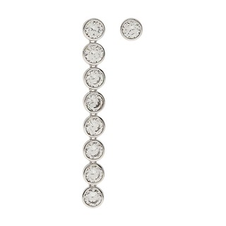 #SILVER / 247 8 layers crystal earrings