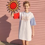 #WHITE/(OP-19316) COLOR BLOCK ONE-PIECE F
