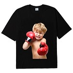 #BLACK / BABY FACE SHORT SLEEVE T-SHIRT BLACK BOXING / 1