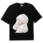 #BLACK / BABY FACE SHORT SLEEVE T-SHIRT BLACK SNOW / 1