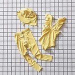 #YELLOW / GIRLS FRILL SWIMSUIT L(6-7Y)