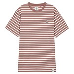 #PINK / STRIPE COTTON SHORT-SLEEVES T-SHIRT 100