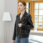 #BLACK / 19FW (JK-2017)BKS SIMPLE SYNTHETIC LEATHER RIDER JACKET S