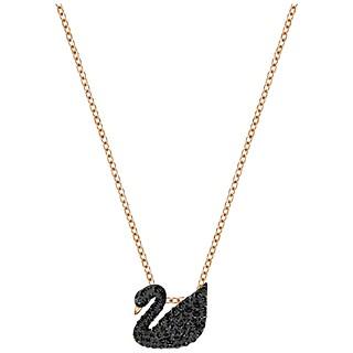 [5204133] ICONIC SWAN:PENDANT SML JET/ROS #rose gold, black