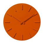 OBJET WALL CLOCK X020 ORANGE