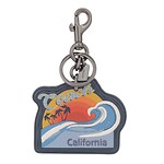California Bag Charm BK/CORNFLOWER