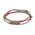 #MULTI RED / Vacance Anklet