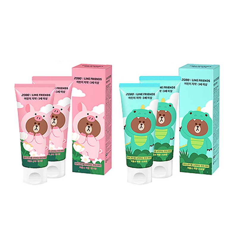 LINE JUNGLE KIDS TOOTHPASTE 儿童牙膏 2+2 (3岁以上)