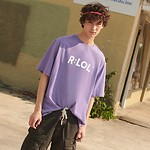 #LAVENDER / (TS-19303) R:LOL BASIC T-SHIRT L