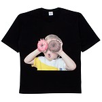 [U] #BLACK / BABY FACE SHORT SLEEVE T-SHIRT BLACK DONUT 1 / 1