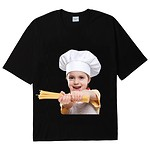 #BLACK / BABY FACE SHORT SLEEVE T-SHIRT BLACK PASTA / 2