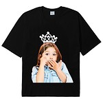 [U] #BLACK / BABY FACE SHORT SLEEVE T-SHIRT BLACK TIARA / 1
