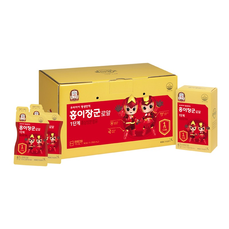 HONGEJANGGOON ROYAL STEP 1 (TO HELP BOOST YOUR KIDS IMMUNITY)(15ml*90 PACKETS)