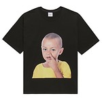 #BLACK / BABY FACE SHORT SLEEVE YELLOW T-SHIRTS BLACK / 2