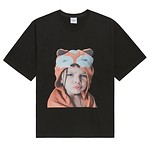 #BLACK / BABY FACE SHORT SLEEVE RACCOON BLACK / 1