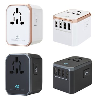 #ROSEGOLD&SPACEGRAY / WORLDWIDE TRAVEL ADAPTER 5 PORT USB 5.6A