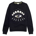 #BLACK / EYE CLASSIC SWEATSHIRT_WOMEN