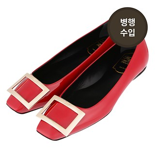 #ROUGE / ROGER VIVIER TROMPETTE BALLERINAS IN PATENT LEATHER 37.5