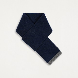 #Navy/Light Grey / CASHMERE COLORED EDGE SCARF