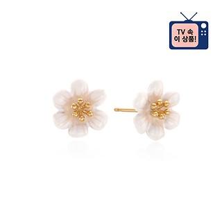[공효진 귀걸이] #WHITE / CAMELLIA FLOWER EARRING