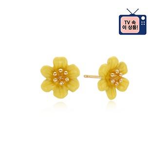 [공효진 귀걸이] #YELLOW / CAMELLIA FLOWER EARRING