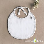 #OFF WHITE / MILD BAMBOO BABY FLOWER 婴儿围嘴