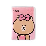 BF CHOCO CLEAR PASSPORT COVER