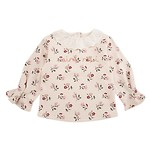 #BE / LACE COLLAR FLOWER SWEATSHIRT 100