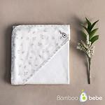 #OFF WHITE / MILD BAMBOO BABY FLOWER 婴儿包巾