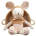 MOUSE WITH PRICKED EARS ORGANIC DOLL 玩偶_粉色