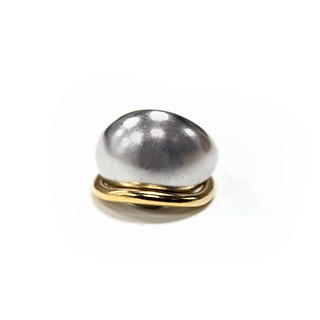 Dome ring SET Silver+Gold