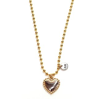 Ball heart necklace gold