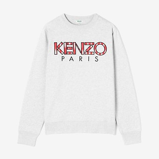 #PEARL GREY / CLASSIC KENZO PARIS SWEATSHIRT_MEN XL (050816006970)