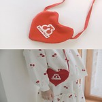 #RED&RED CHECK / MINI HEART BAG 儿童斜挎包