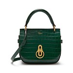 #Jungle Green / Small Amberley Satchel Shiny Croc