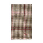 #Beige - Burgundy / Reversible Tri Check 60x120 Lambswool