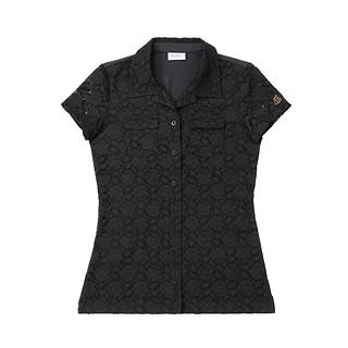 #BLACK / 프리미엄 레이스 티셔츠 S