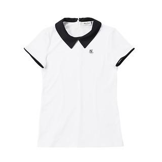 #WHITE / 카라 배색 티셔츠 XS