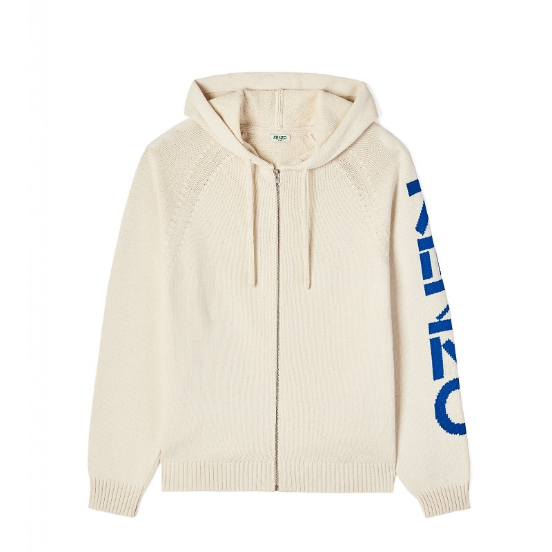 #ECRU / KENZO SPORT HOODED CARDIGAN_MEN L