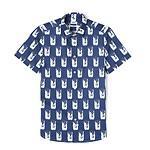 #NAVY BLUE / SLIM SS SHIRT_MEN XL