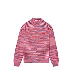 #MEDIUM RED / SPACEDYED TIGER CREST JUMPER_MEN L