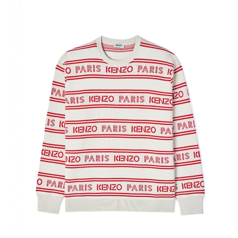 #OFF WHITE / ALL OVER KENZO JACQUARD JUMPER_MEN XL