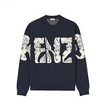 #MIDNIGHT BLUE / MERMAIDS KENZO LOGO JUMPER_MEN L