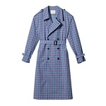 #BL/Checked trench coat