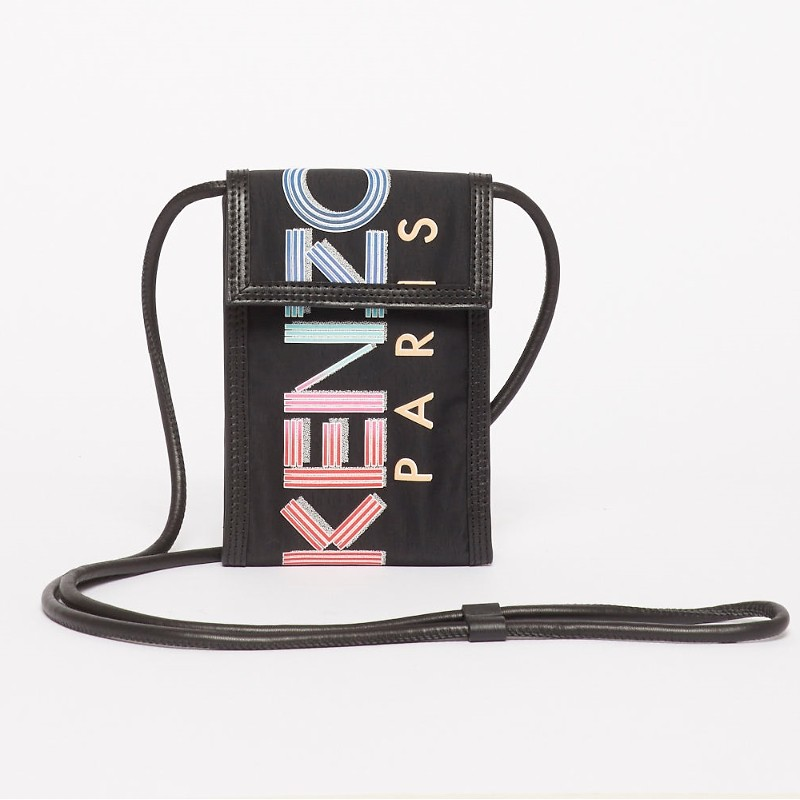 #BLACK / KENZO SLG PHONE HOLDER ON STRAP_MEN TU