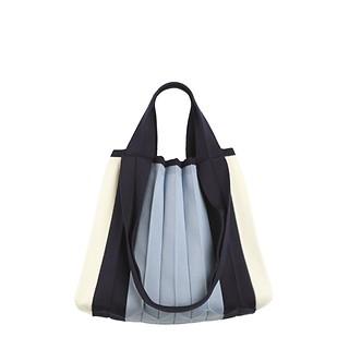 #Gimnyeong Blue / Knit Pleats TW Shopper G BU