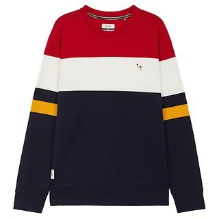 #RED / 컬러블록 면 맨투맨 티셔츠 105