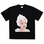 [U] #BLACK / BABY FACE SHORT SLEEVE BUBBLE / 1