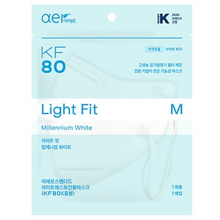 KF80보건용마스크WHITE/M/10P